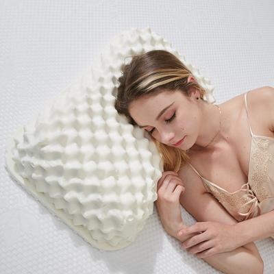 抖音 网红 淘宝促销乳胶枕头 天然泰国乳胶枕芯护颈枕头记忆枕 乳胶美容款   38*56