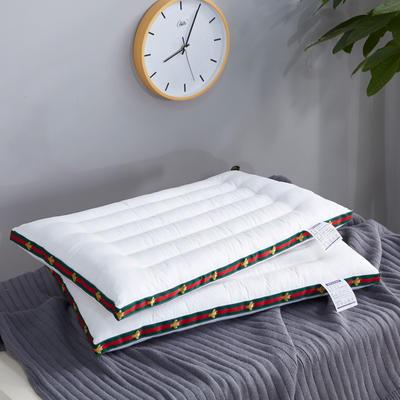 全棉小蜜蜂水洗枕 学生枕芯 彩色低枕护颈枕头 小蜜蜂水洗枕 一只装