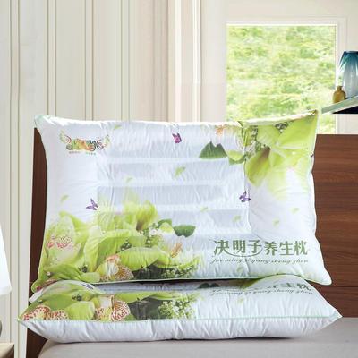 3D炫彩花草药物保健枕芯保健枕头 护颈枕 3D情侣 粉色保健枕芯