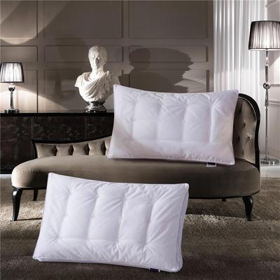 全棉酒店蚕丝二合一高弹护颈枕芯枕头 全棉酒店蚕丝二合一高弹护颈枕芯枕头