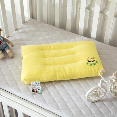 全棉针织水洗枕  儿童护颈枕芯枕头 彩棉水洗枕  米黄