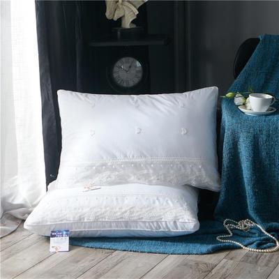 全棉花边蕾丝羽丝绒枕芯  白色蕾丝羽丝绒枕头 白色蕾丝羽丝绒枕头