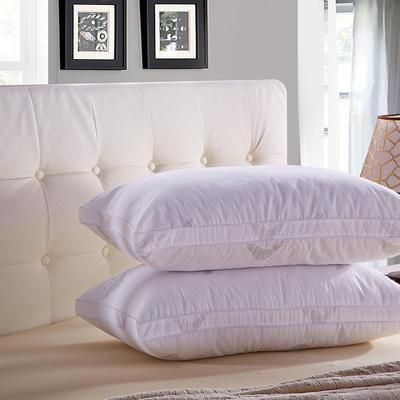 全棉防螨羽丝绒枕芯  立体羽丝枕头 全棉防螨羽丝绒枕芯