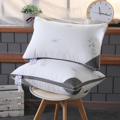 全棉印花羽毛羽丝绒水洗枕头枕芯 全棉印花羽毛羽丝绒水洗枕头枕芯