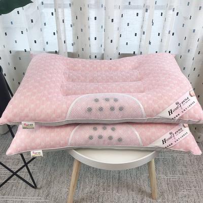 新品全棉针织水立方保健枕芯枕头 新品全棉针织水立方保健枕芯枕头   粉色
