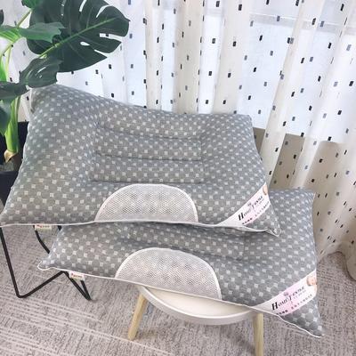 新品全棉针织水立方保健枕芯枕头 新品全棉针织水立方保健枕芯枕头  灰色