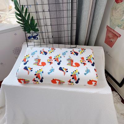 全棉卡通儿童乳胶枕芯 天然乳胶枕头27*45学生护颈枕婴儿保健枕 30*50学生款 新恐龙