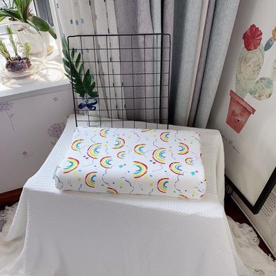 全棉卡通儿童乳胶枕芯 天然乳胶枕头27*45学生护颈枕婴儿保健枕 27*45儿童款 新彩虹