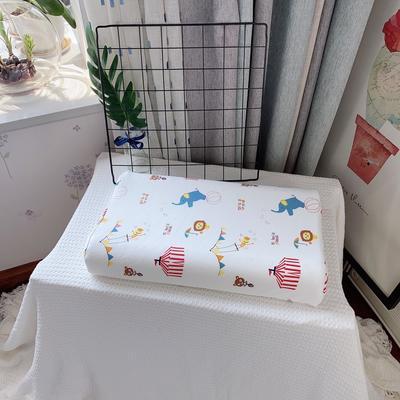 A品天然儿童乳胶枕头 学生乳胶枕芯全棉乳胶护颈枕枕头芯 27*45儿童款 动物园