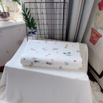 A品天然儿童乳胶枕头 学生乳胶枕芯全棉乳胶护颈枕枕头芯 27*45儿童款  森林小鹿