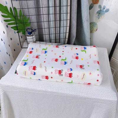 全棉卡通儿童乳胶枕芯 天然乳胶枕头27*45学生护颈枕婴儿保健枕 27*45儿童款 新品小猪