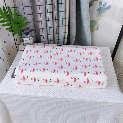 A品天然儿童乳胶枕头 学生乳胶枕芯全棉乳胶护颈枕枕头芯 27*45儿童款 火烈鸟