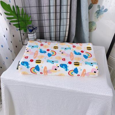 全棉卡通儿童乳胶枕芯 天然乳胶枕头27*45学生护颈枕婴儿保健枕 27*45儿童款 彩虹
