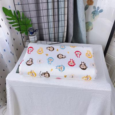 全棉卡通儿童乳胶枕芯 天然乳胶枕头27*45学生护颈枕婴儿保健枕 27*45儿童款 猴子