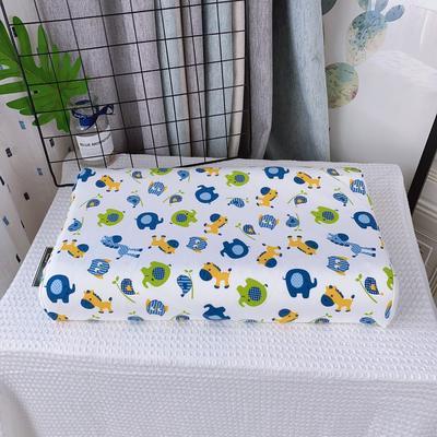淘宝天然乳胶枕 婴儿宝宝乳胶枕头 泰国乳胶枕芯 27*45cm儿童枕芯 30*50学生款  动物蓝色