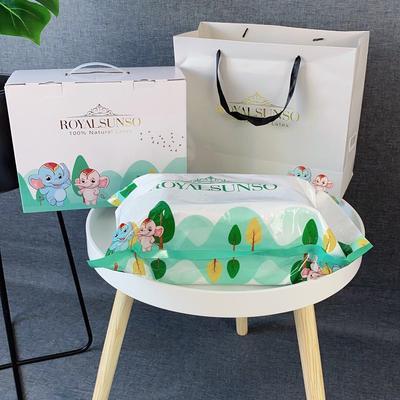 儿童皇家三代乳胶枕头芯 儿童学生乳胶枕头 三代儿童皇家 2744 小号  粉色