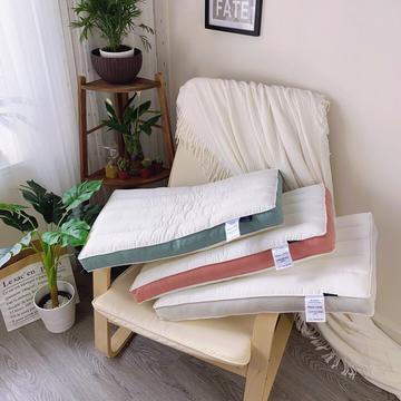 英伦纤柔低枕  多色全棉学生枕头低枕芯