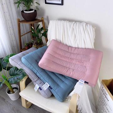 全棉贡缎宫廷风森棉决明子保健护颈枕 高端枕芯枕头