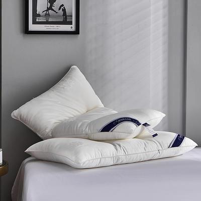 新款全棉玻尿酸水洗枕芯羽丝护颈高科技枕头 玻尿酸水洗护颈枕   一只装