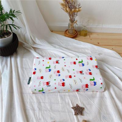 A品天然儿童乳胶枕头 学生乳胶枕芯全棉乳胶护颈枕枕头芯 27*45儿童款 新品小猪