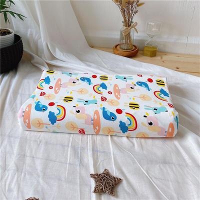 A品天然儿童乳胶枕头 学生乳胶枕芯全棉乳胶护颈枕枕头芯 30*50学生款 彩虹