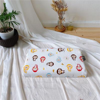 A品天然儿童乳胶枕头 学生乳胶枕芯全棉乳胶护颈枕枕头芯 27*45儿童款 猴子