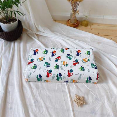 A品天然儿童乳胶枕头 学生乳胶枕芯全棉乳胶护颈枕枕头芯 27*45儿童款 工程小汽车