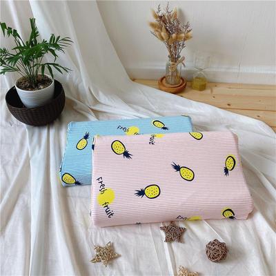 A品天然儿童乳胶枕头 学生乳胶枕芯全棉乳胶护颈枕枕头芯 27*45儿童款 菠萝粉