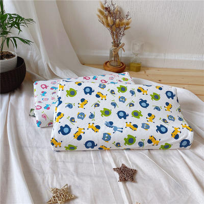 天然乳胶枕 婴儿宝宝乳胶枕头 1-3-8-13岁学生乳胶枕芯 量大从优 30*50学生款  动物蓝色