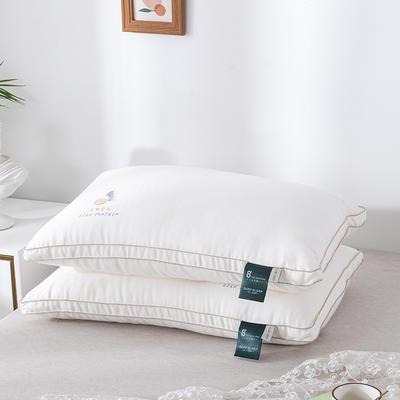木果枕芯 新品蚕蛹蛋白羽丝绒高弹枕芯 护颈枕头 蚕蛹蛋白羽丝绒枕