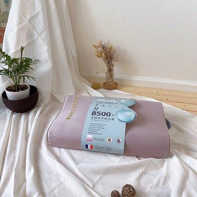泰国天然乳胶枕芯玻尿酸美容家用单人高低平滑颈椎护颈枕头 字母玻尿酸乳胶  咖啡
