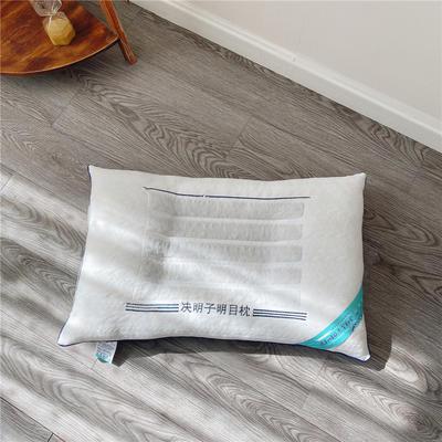 新品针织三线保健枕头 花草保健枕芯 决明子保健护颈枕头 针织三线保健  白色  一只装
