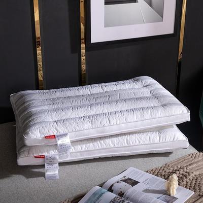 新品全棉蝴蝶绗缝决明子定型低枕   水洗枕 全棉蝴蝶绗缝决明子枕  低枕  一只装