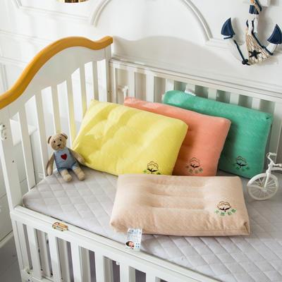 儿童学生水洗羽丝绒枕芯  儿童 彩棉水洗枕头 儿童彩棉水洗枕  绿色