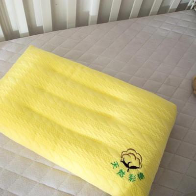 儿童学生水洗羽丝绒枕芯  儿童 彩棉水洗枕头 儿童彩棉水洗枕  黄色