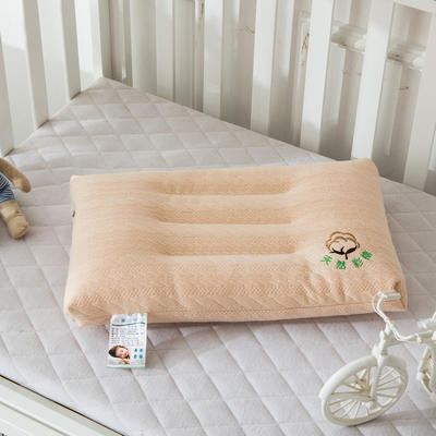 儿童学生水洗羽丝绒枕芯  儿童 彩棉水洗枕头 儿童彩棉水洗枕  驼色