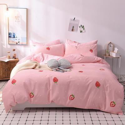 2018小清新系列 标准1.8m床 床笠款 波点草莓