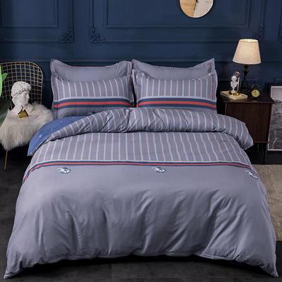 2019新品13372活性匹马棉大版花系列四件套 1.5m(5英尺)床 风尚