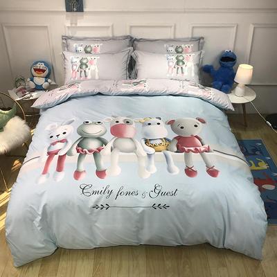 2020新款全棉13372卡通系列四件套 1.5m床单款四件套 童话时光