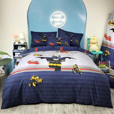 2020新款全棉大版磨毛全棉生态磨毛卡通四件套 1.5m床单款四件套 蝙蝠侠