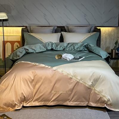 2021新款100支长绒棉四件套-莫兰迪系列 1.8m床单款四件套 莫兰迪 牛油果绿