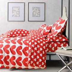 潮品韩国专版活性133×72加厚潮品套件 三件套 心心相印-红