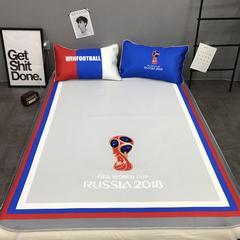 2018新款-凉感丝凉席三件套实拍图 150*200cm 2018世界杯