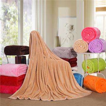 纯色剪花毛毯 150*200cm 驼