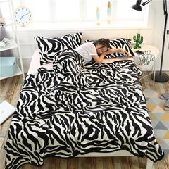 爱她美加厚法莱绒毛毯子盖毯 70cmX100cm(折边花型随机) 斑马纹