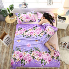 云貂绒加厚法莱绒毛毯子盖毯 70cmX100cm(折边花型随机) 春暖花开