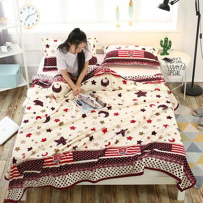 云貂绒加厚法莱绒毛毯子盖毯 120cmX200cm 星月传奇