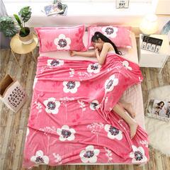 爱她美加厚法莱绒毛毯子盖毯 150cmX200cm 幸福美满