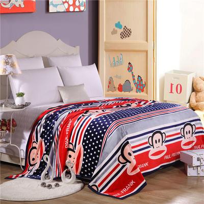 云貂绒加厚法莱绒毛毯子盖毯 200cmX230cm 大嘴猴