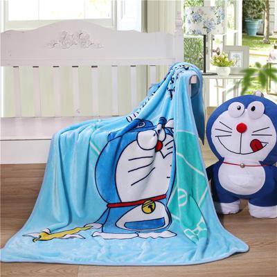 儿童单层法莱绒披肩毛毯子盖毯 100cmx140cm 棒球叮当猫